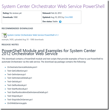 Orchestrator – Use Powershell (only) to Trigger Runbooks