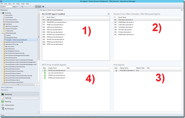 SCOM 2012 – Example Agent Health Check Dashboard Using