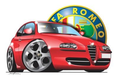 italian classics, cartoon car art, cartoon car drawings,