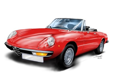 alfa spider, car art, car drawings, shop droptops, vote your style,