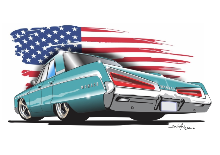 dodge monaco blue stefan s auto art rh stefansautoart com cartoon images of muscle cars cartoon muscle cars for sale