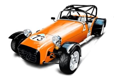 Lotus 7 - Orange