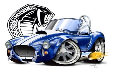 cartoon car drawings, car art, car drawings, shelby cobra,