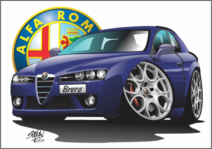 alfa brera cartoon