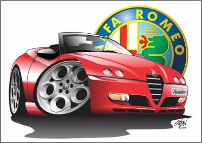 alfa spider cartoon facelift