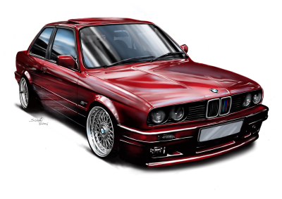 e30 bmw 325i shadowline, car wars,