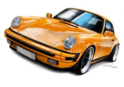 porsche-911-orange