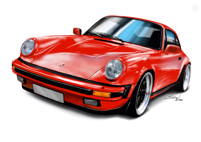 porsche 911 red, german steel, car wars 2,