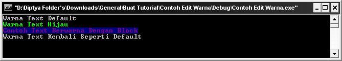 Memberikan warna pada text atau background (C/C++ programming)