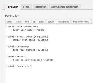 contactformulier contact form 7 create