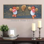 декоративно пано за стена ангелчета