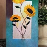 картина Слънчогледи акрил