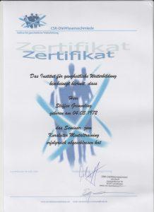 Zertifikat zum Mentaltrainer