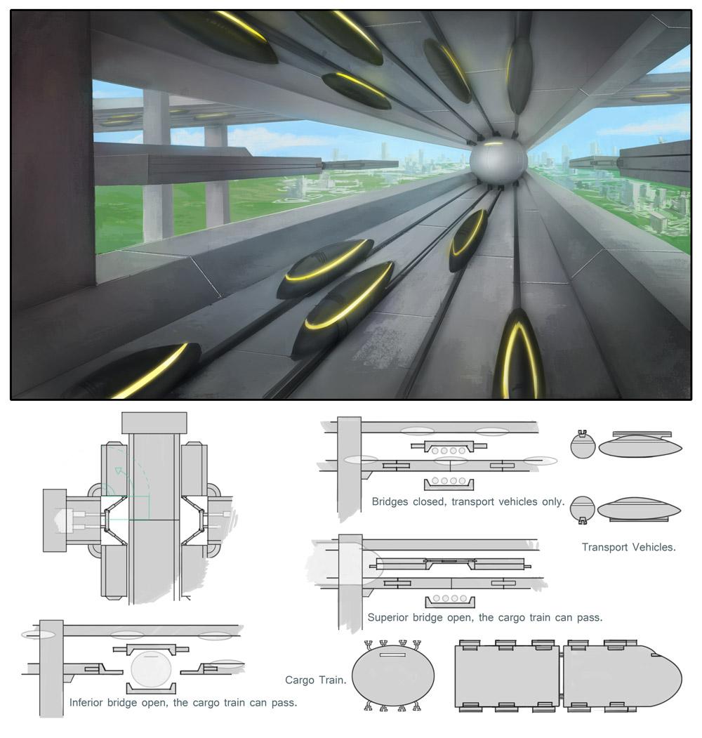 Movable bridge, concept design.