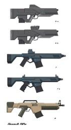 Weapon designs.