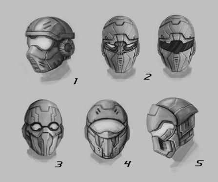 Helmet design.