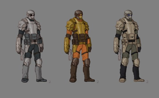 Character color schemes.