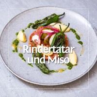 Rindertatar, Pimientos de Padrons & Misomayonnaise