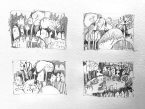 Minidoodles Landschaften