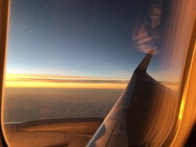 On the flight