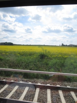 The train ride to Leipzig was very scenic.