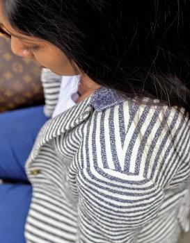 Weekend wear Zara striped blazer