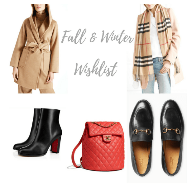 Fall and winter wishlist
