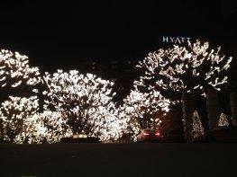 Lichterketten beim Hyatt in Seoul