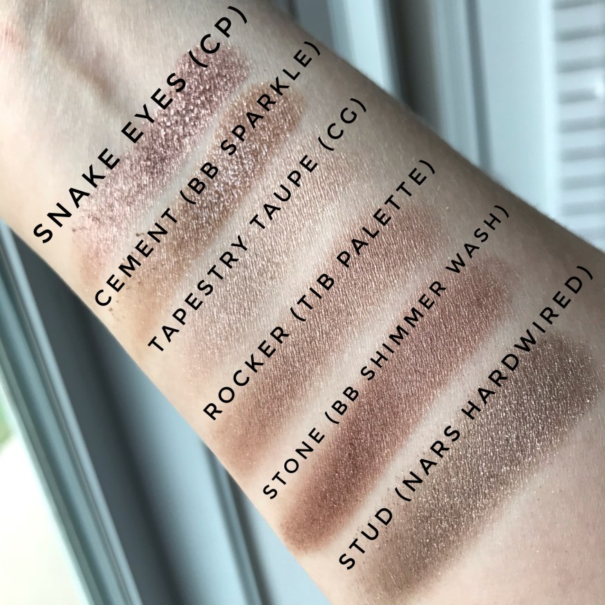 taupe eyeshadow swatches 2020