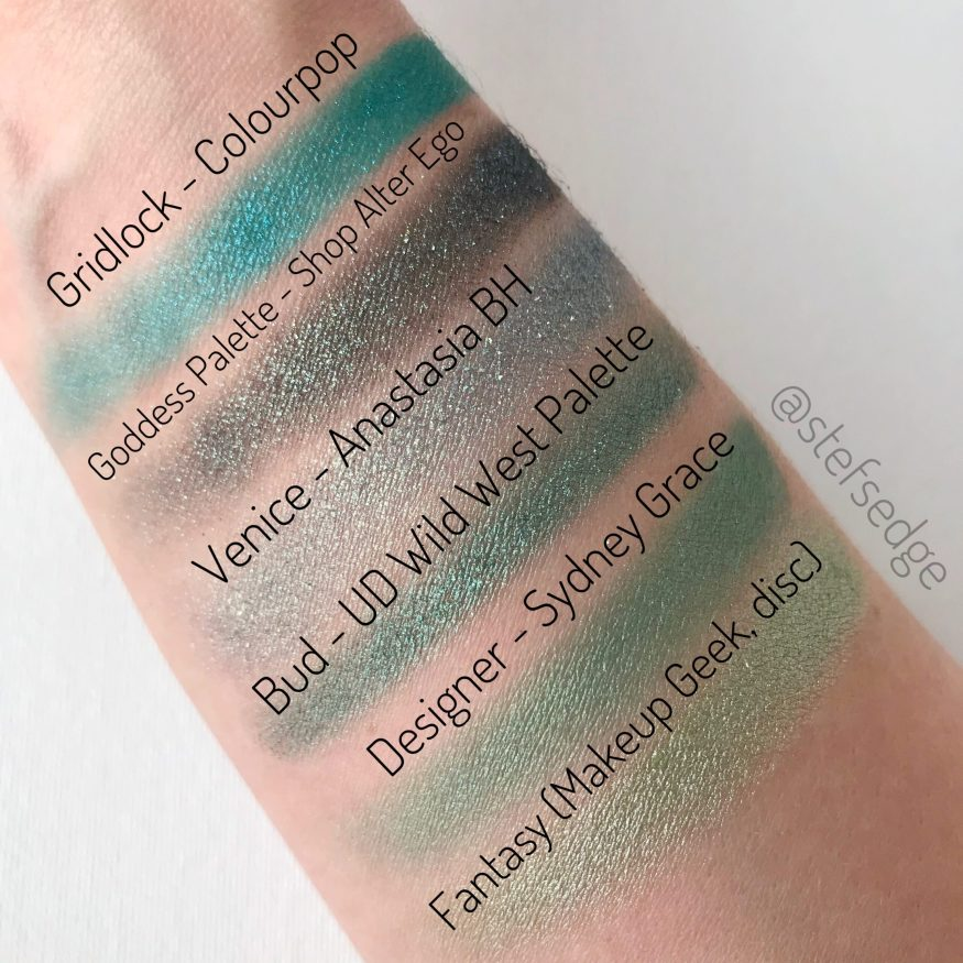Dupes for Bud from Urban Decay Naked Wild West Palette. Designer is the closest in my own collection.