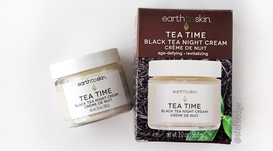 Earth to Skin Tea Time Black Tea Night Cream with Box Packaging on white background by stefsedge