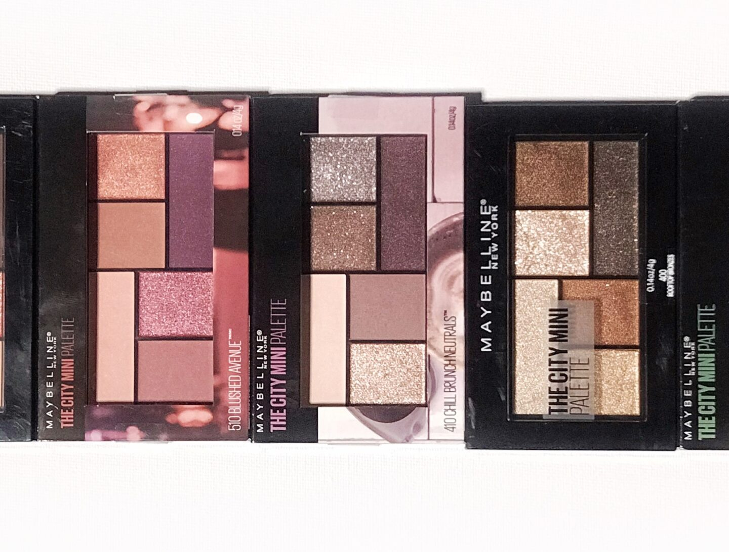 Maybelline City Mini Swatches and Review