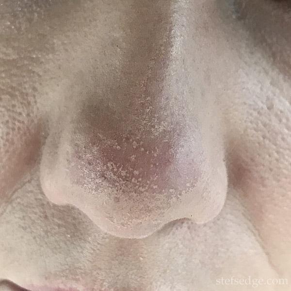 Lancome Teint Idole Ultra Wear shade 095 wear test review nose