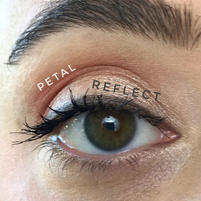 Tarte Tartelette Juicy Eyeshadow look using shades Petal and Reflect