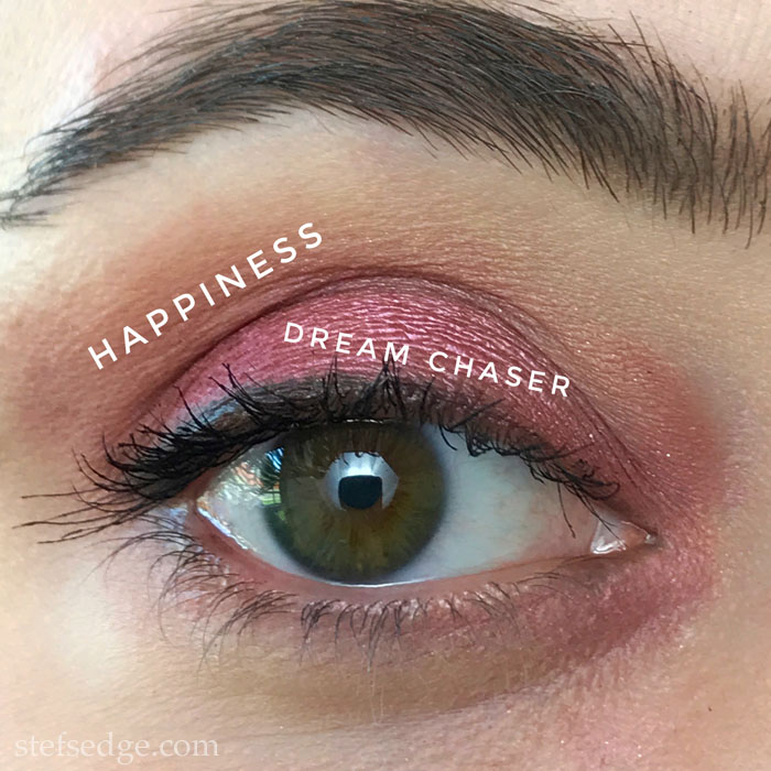 Tarte Tartelette Juicy Eyeshadow palette look using shades Happiness and Dream Chaser
