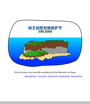 Minecraft Island, before