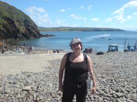 Mrs Gnomepants' Beauty is dwarfed by the beauty of Porth Meudy