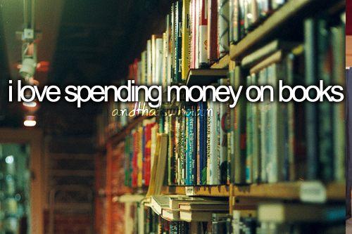eu amo gastar dinheiro em livros
