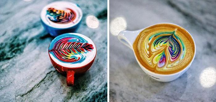 barista cria bebidas a base de cafe coloridas obras de artes em cafe6