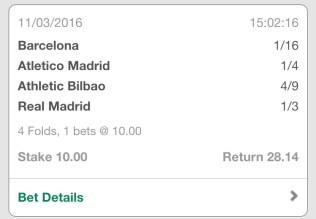 La Liga 4 fold winner