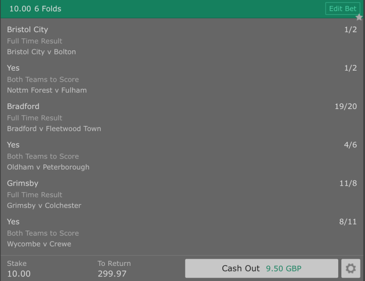 Footy Accumulator Football League 6 Fold - 28/1