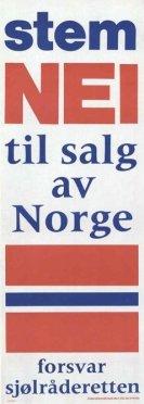 nei til salg av norge