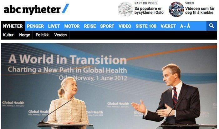 Clinton Foundation fikk millioner etter en telefon til Støre