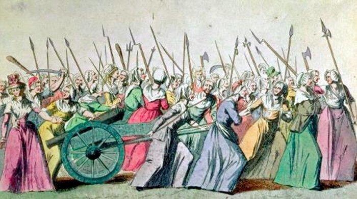 kvinner høygafler franske revolusjon