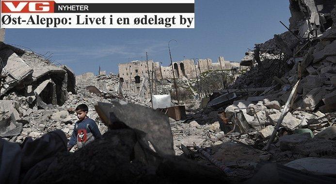 """Livet i Øst-Aleppo – ingen sympati for """"opprørerne"""""""