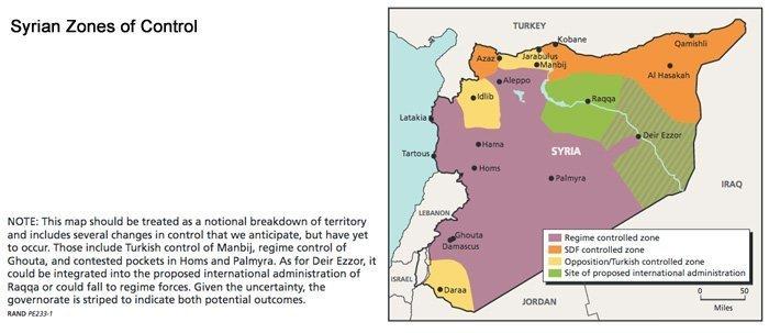 USAs oppdaterte plan for oppdeling av Syria