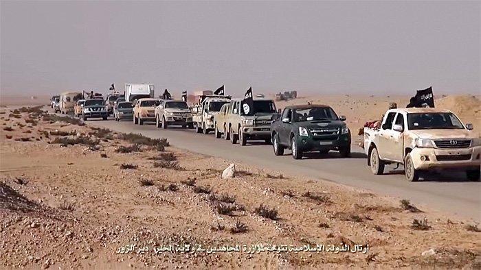 Lot USA IS flykte fra Raqqa?