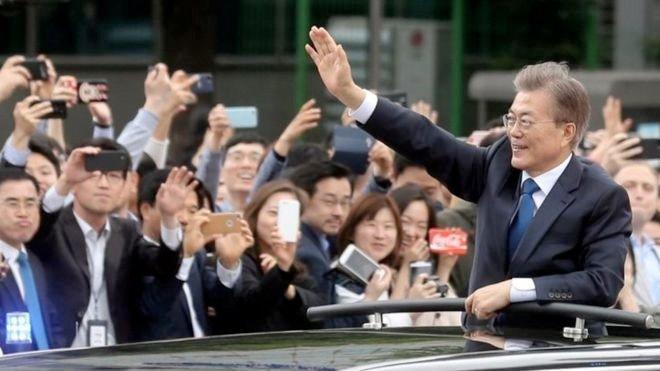 Sør-Koreas president: Vi legger ned veto mot krig mot Nord-Korea