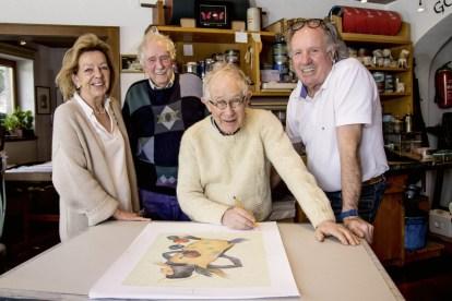 Von links: Annaliese Stecher, Walter Stecher, Reiner Schiestl, Günther Stecher. Foto: Clemens Stecher