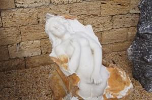 Marmorfigur - Meerjungfrau